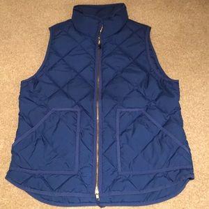J Crew Royal Blue Excursion vest L